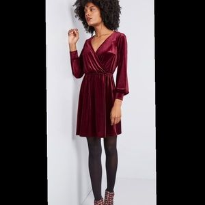Modcloth Luxe Structure Velvet Dress